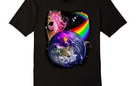Laser Eyes Space Cat Shirt