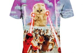 ufo-kitten-cat-laser-attack-beach-tee-shirt